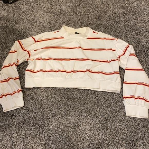 striped wild fable mock neck sweatshirt